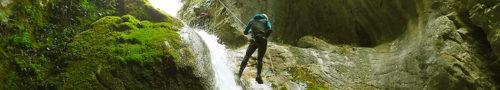 Parte central del Cañón de Artazul, ubicado en Navarra y considerado como uno de los mejores descensos de Euopa.
