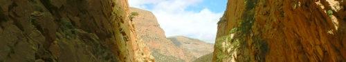 Descenso de cañones y barranquismo en el Atlas Central, Marruecos.