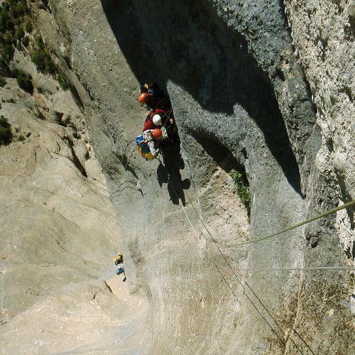 Curso de perfeccionamiento barranquismo, grandes verticales. Pais Vasco, Euskadi, Euskal Herria, Pirineos.