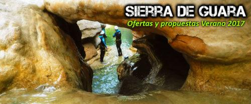 Barranquismo, descenso de cañones en la Sierra de Guara. Oferta y propuestas para este verano. Guías de Montaña y Barrancos.