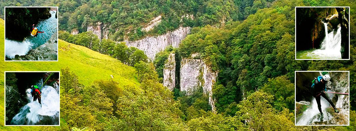 Barranquismo en Kakueta, Holtzarte, Navarra, Isaba, Belagua, Iparralde. Guías de Montaña y Barrancos. Mountain nad Canyon Guides. Mendi eta Arroila Gidariak.