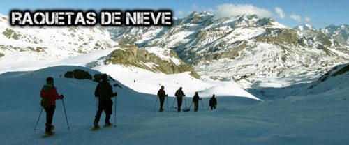 Raquetas de nieve en Pirineos, Pais Vasco, Lunada, Navarra. Guías Acompañantes de Montaña con acreditación UIMLA. Turismo activo.