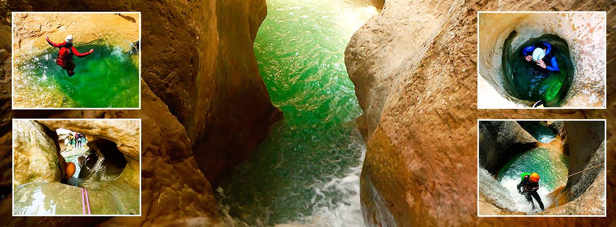 Descenso de cañones. Barranquismo en la Sierra de Guara. Guías de Barrancos. Arroila jeitsiera Guaran. Arroila gidariak. Cnayoning in Sierra de Guara. Canyon Guides.