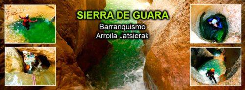 Barranquismo, descenso de cañones, Sierra de Guara. Canyoning.