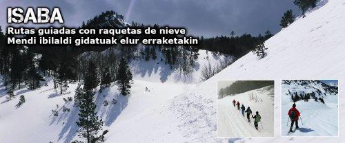 Raquetas de nieve en Pirineo Navarro, Belagua, Zuriza, y Linza. Guías de montaña UIMLA. Mountain guides UIMLA. Snowshoeing in Navarre, Basque Country, Belagua, Zuriza and Linza. Elur Erraketak Nafarroan, belagoan, Zurizan, eta Linzan. Mendi Gidariak UIMLA.