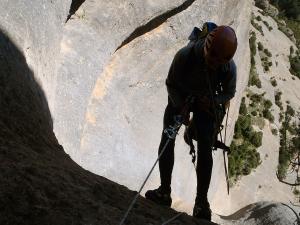 Curso de Grandes Verticales Barranquismo. Curso de descenso de cañones, Grandes Verticales.Guias profesionales de barrancos. Euskadi, Pais Vasco, Navarra, Pirineos-31