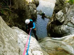 Barranco-Trigoniero-Barranquismo-en-Sobrarbe-Ordesa-Bujaruelo-Aínsa-Canyoning-Guías-de-Barrancos-Canyon-Guides-5
